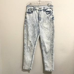 LEVIs DENIZEN bleached MOM JEANS  acid wash 31